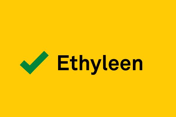 U kunt ethyleen gebruiken